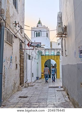 The Small Mosque In Tunis Medina