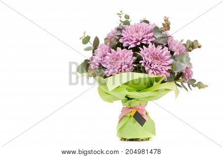 A Bouquet Of Flowers On A White Background