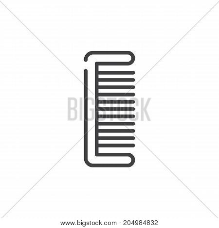Comb line icon, outline vector sign, linear style pictogram isolated on white. Symbol, logo illustration. Editable stroke