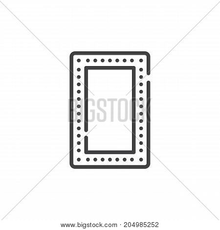 Make up mirror line icon, outline vector sign, linear style pictogram isolated on white. Symbol, logo illustration. Editable stroke