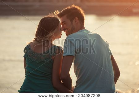 Image of young couple enjoy spending time together.