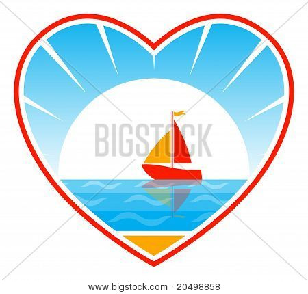 Sailboat In Heart