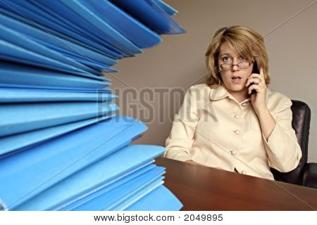 Business Woman At Desk