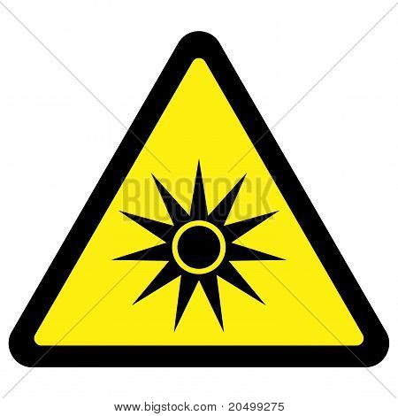 Optical Radiation Warning Sign