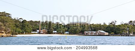 The scenic historic Quarantine Beach North Harbour Sydney. Quarantine Beach is named after the old Quarantine Station which operated from 1828-1984 and was the first port of call for all quarantined ships and their passengers.