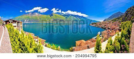 Lago Di Garda Panoramic View In Limone Sul Garda