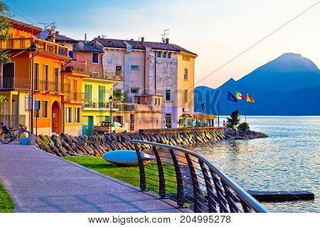 Porto Village On Garda Lake Waterfront View