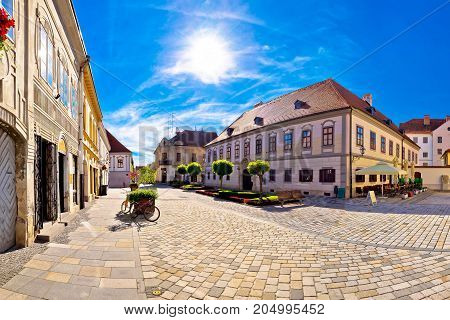 Baroque Town Of Varazdin Square Panoramic View