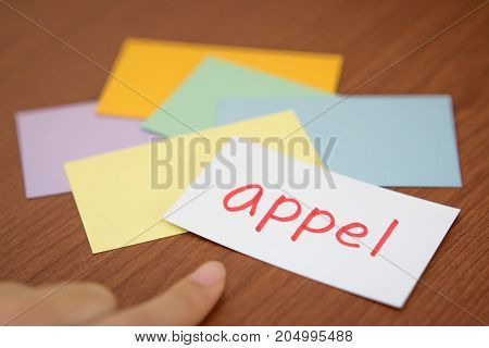 Dutch; Learning New Language With The Flaish Card (translation; Apple)