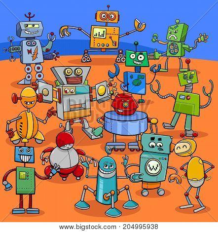 Cartoon Robot Characters Big Pack