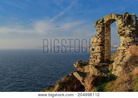 Cape Kaliakra is a long and narrow cape on the Bulgarian northern Black Sea coast. It is a natural and archaeological reserve and one of the '100' National Tourist Sites.
