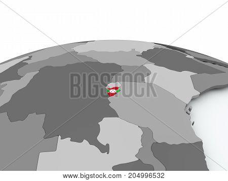 Flag Of Burundi On Globe