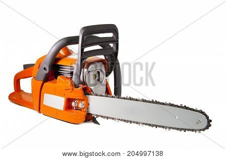 chain saw on a white background .
