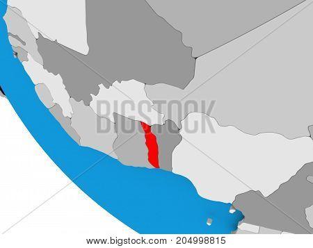 Togo On Political Globe