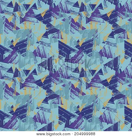 triangles seamless texture.  seamless pattern geometric spots background Abstract texture fabric print card.