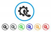 Phone Configuration rounded icon. Style is a flat phone configuration gray symbol inside light blue circle with black, gray, green, blue, red, orange color versions. poster