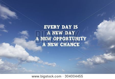 New Day Quote Image Photo Free Trial Bigstock