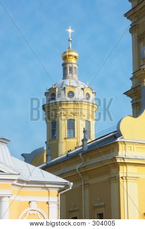 church at petropavlovskaya fortress - saint-petersburg poster