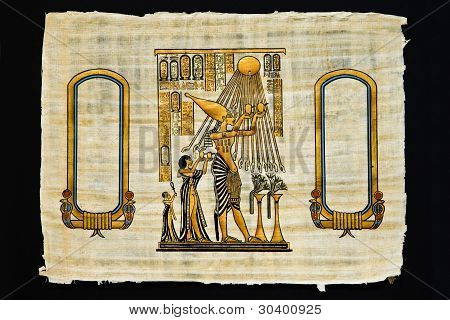 Sheet Of Papyrus With Ancient Drawings