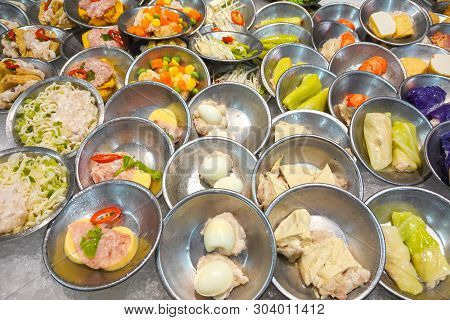 Chinese Dimsum Bamboo Steamer. Dimsum In The Steam Basket. Chinese Cuisine.