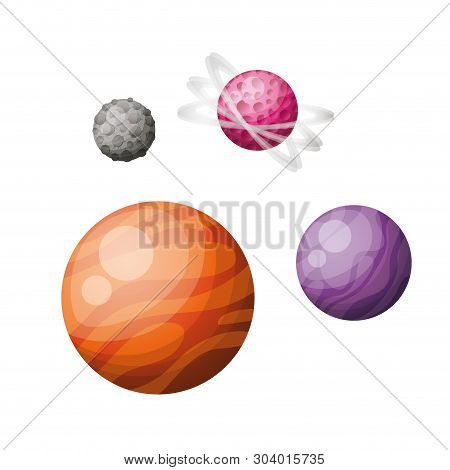 Planets Of The Solar System Isolated Icon Vector Illustration Design