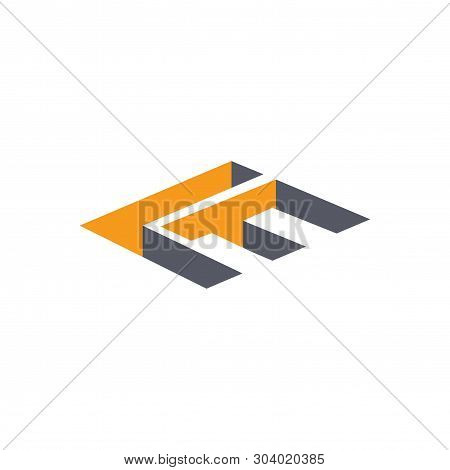 L F Initial Letter With 3D Concept Logo Vector Element Template