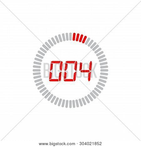 The 4 Seconds Icon Isolated On White Background. The 4 Seconds Icon Simple Sign. The 4 Seconds Icon