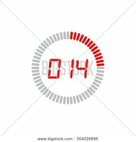 The 14 Seconds Icon Isolated On White Background. The 14 Seconds Icon Simple Sign. The 14 Seconds Ic