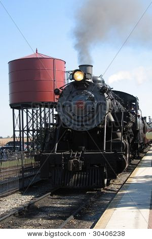 Steam locomotive at Strasburg PA