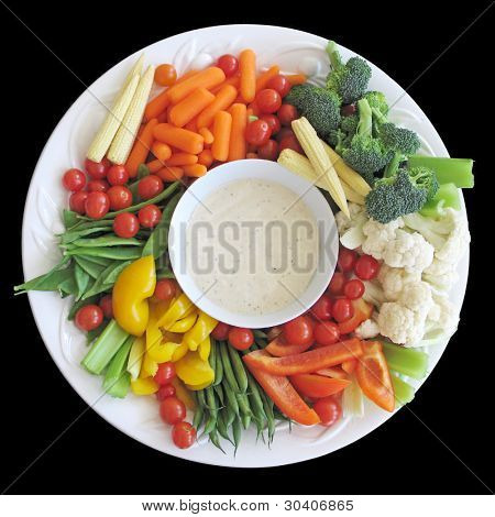 Colorful vegetable platter