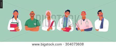 Medical Insurance -best Doctors -modern Flat Vector Concept Digital Illustration - Medical Specialis