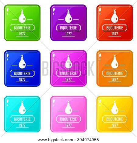 Bijouterie Icons Set 9 Color Collection Isolated On White For Any Design