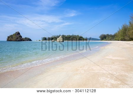 Nopparattara Beach. Andaman Sea, Krabi Province, Southern Thailand