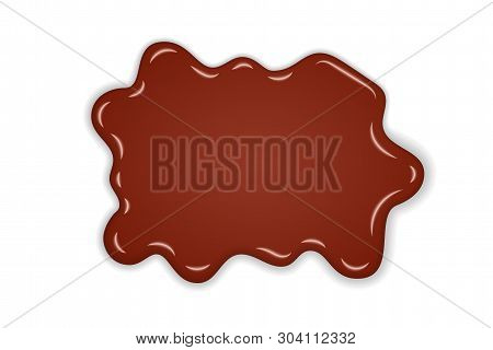 Caramel Drop. Realistic Caramel, Flow Liquid Isolated On White Background. 3d Splash Toffee Candy. D