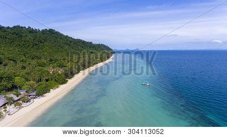 Aerial View To A Tropical Beach. Koh Ngai, Trang, Thailand