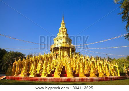 Wat Pa Sawang Bun Is A Buddhist Temple. The Temple Area Is In The Kaeng Khoi District. Saraburi Prov