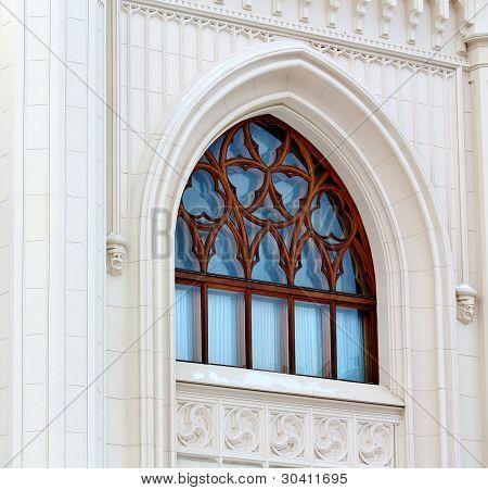Fenster von zu Hause im eklektischen Stil (Detail) von der Architector Shekhtel gebaut