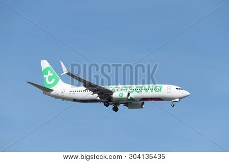 Amsterdam, The Netherlands - May 30th 2019: Ph-hsm Transavia Boeing 737-800 Final Approaching To Pol