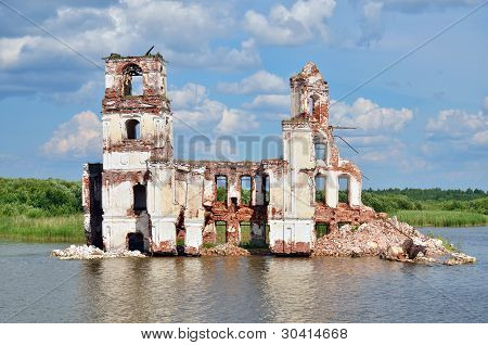 Destroyed Church On The Lake