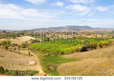Landscape In Khao Kho, Petchabun Province, Thailand