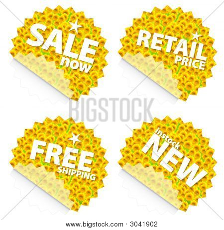 Sunflower Retail Stickers