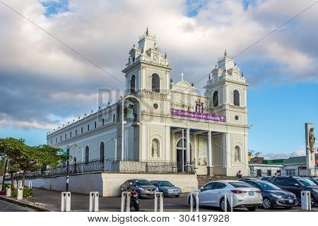 San Jose,costa Rica - March 22,2019 - View At The Church Our Lady Of Solitude In San Jose. San Jose