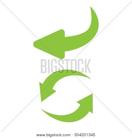 Reverse Icon Vector. Flip Over Or Turn Arrow. Reverse Sign