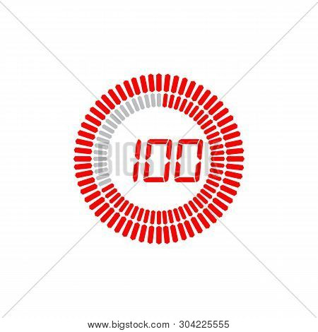 The 100 Seconds Icon Isolated On White Background. The 100 Seconds Icon Simple Sign. The 100 Seconds