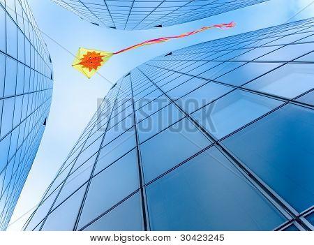Kite In The City Sky