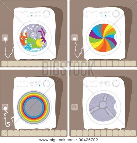 automatic washing processes