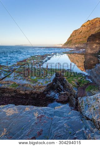 The Bogey Hole Is A Convict Dug Ocean Pool To The South Of Newcastle Main Beach. This Ocean Pool Is