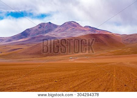 Hilly Landscape At The Dormant Volcano In Uyuni, Bolivia