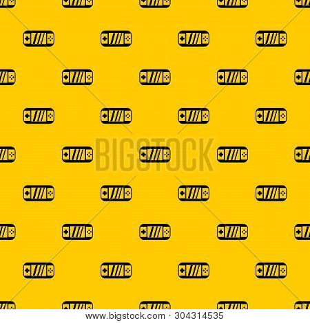 Portable Video Game Console Pattern Seamless Vector Repeat Geometric Yellow For Any Design