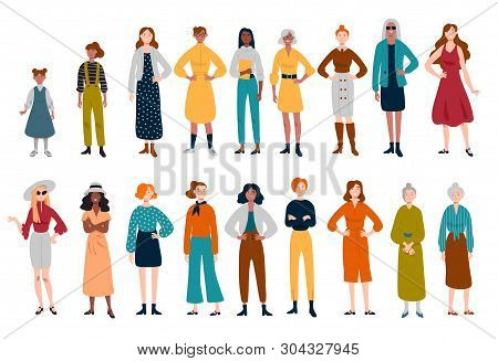 Women, Many Female Characters Of Different Ages.